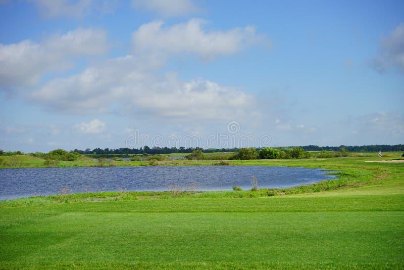 Floryda chmura i pole golfowe zdjęcie stock
