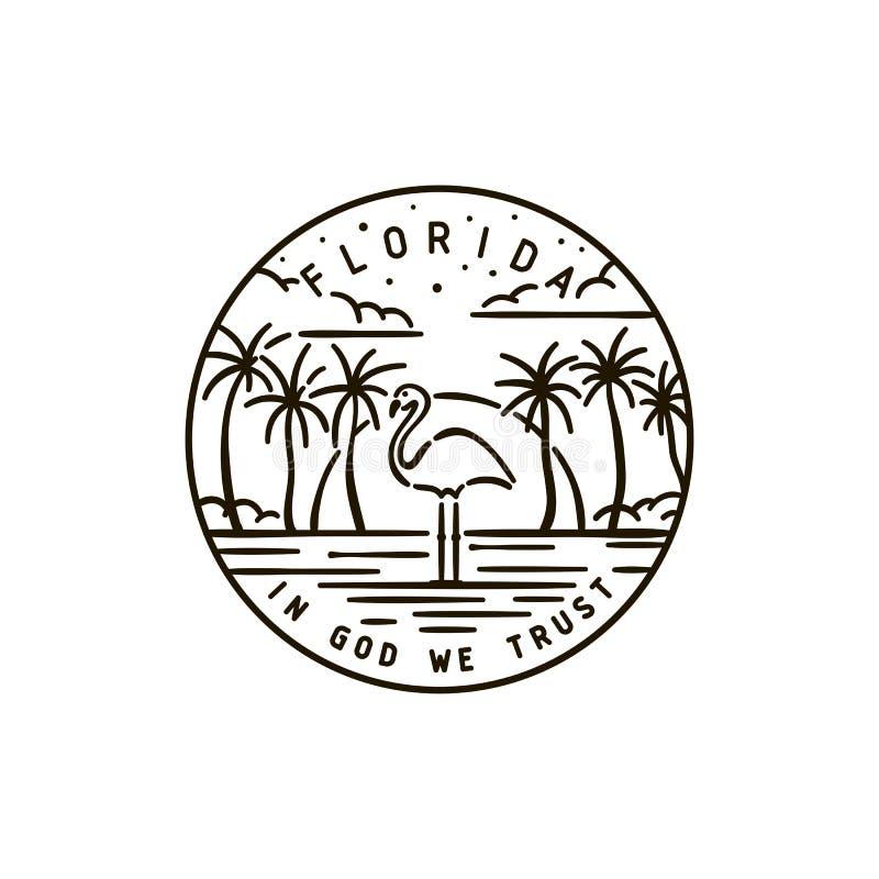 Floryda flaming ilustracji