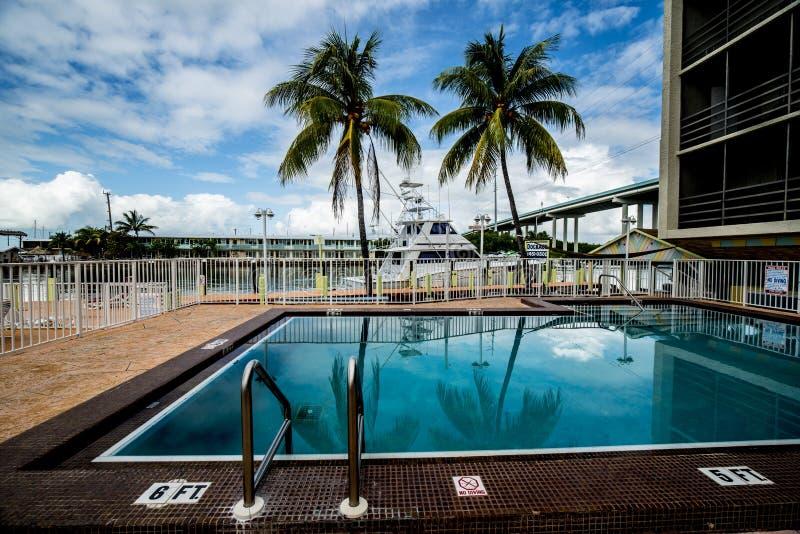 Floryda kluczy kurortu basen zdjęcia royalty free