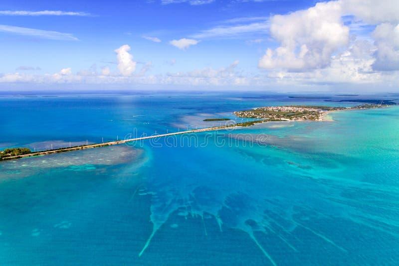 Floryda kluczy widok z lotu ptaka z mostem obrazy stock
