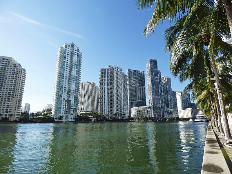Download Floryda, Maiami, Panoramiczny Widok Zatoka Obraz Stock - Obraz złożonej z morze, śródmieście: 106906189