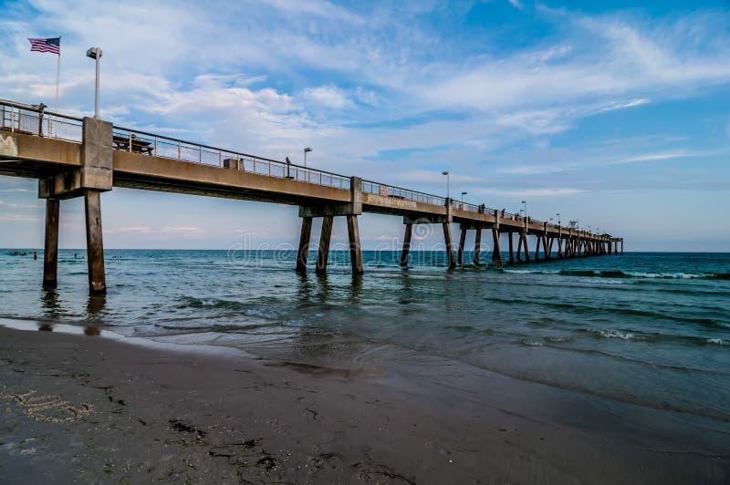 Floryda plaży scena zdjęcie stock