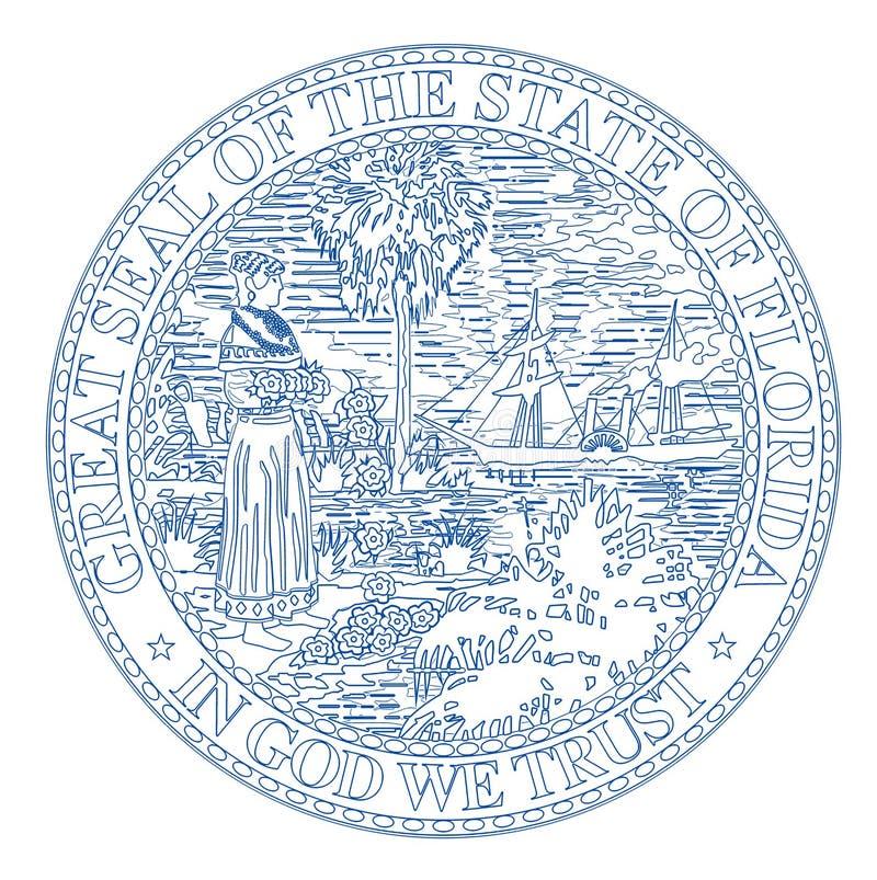 Floryda stanu foka ilustracja wektor