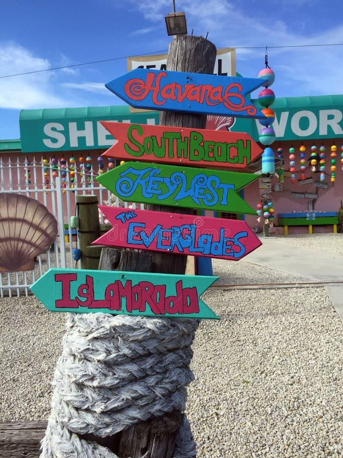 Floryda Wpisuje miejsce przeznaczenia znaki, wskazuje sposób obrazy stock