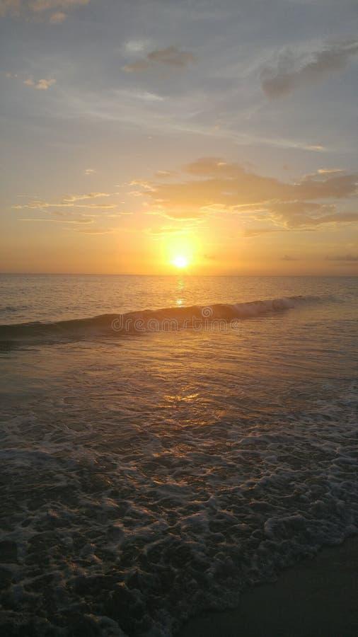 Floryda zmierzchu południowo-zachodni widok, plaże zdjęcie stock