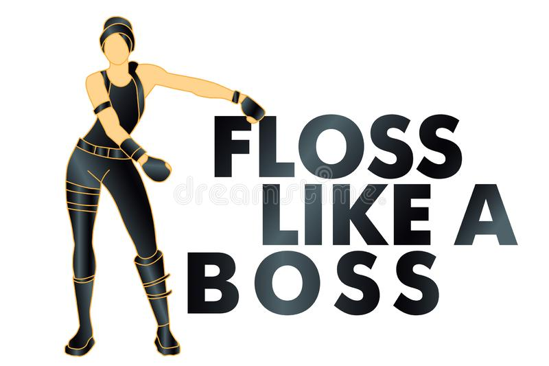 Floss like a boss, dance, t-shirt - Vectorn. Floss like a boss, dance, t-shirt - Vector stock illustration