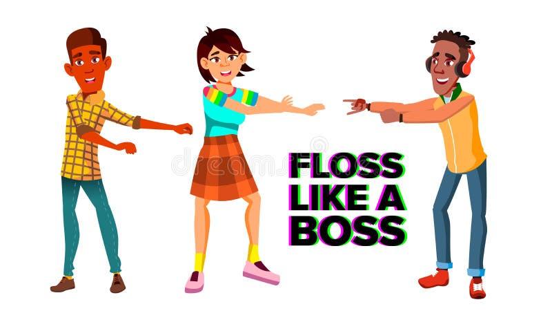 Floss Like A Boss, Dance, T-shirt - Vectorn Stock Vector