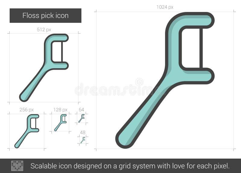 Flosshackalinje symbol vektor illustrationer