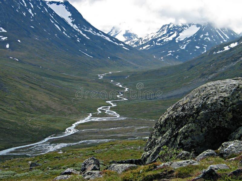 Flot de montagne image libre de droits