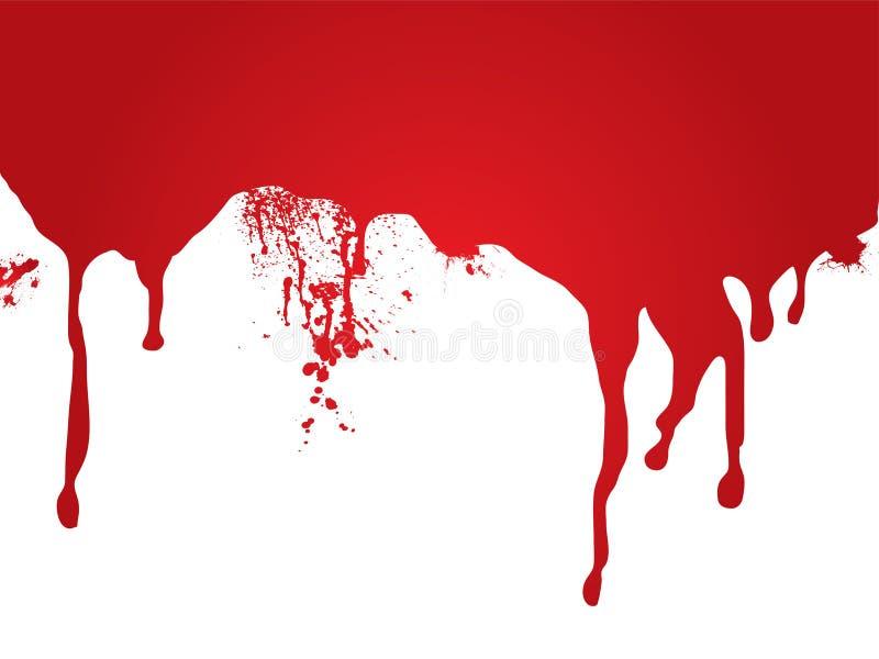 Flot de sang illustration de vecteur