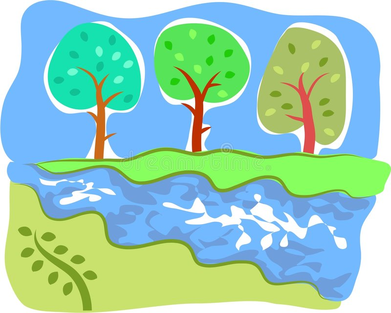 Flot de vallée illustration libre de droits