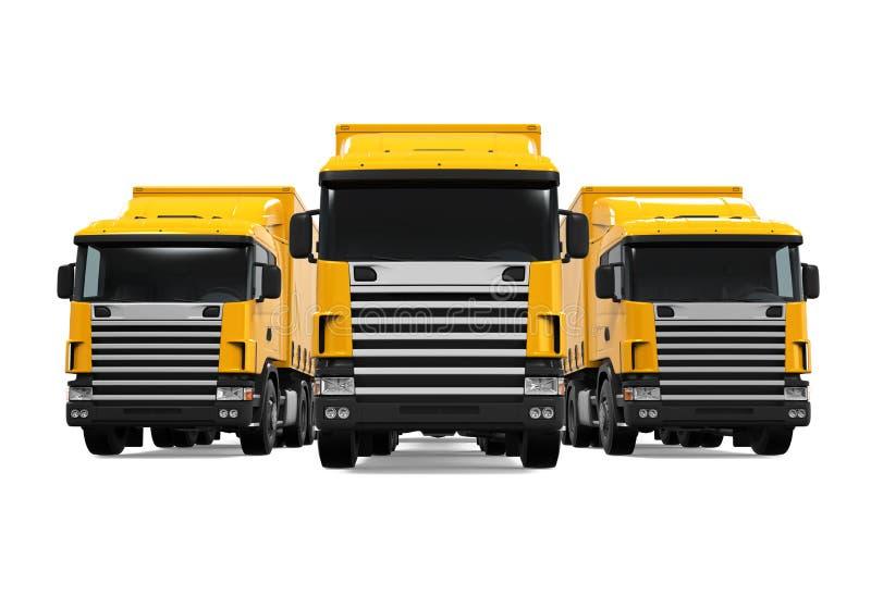 Flota de camión de remolque ilustración del vector