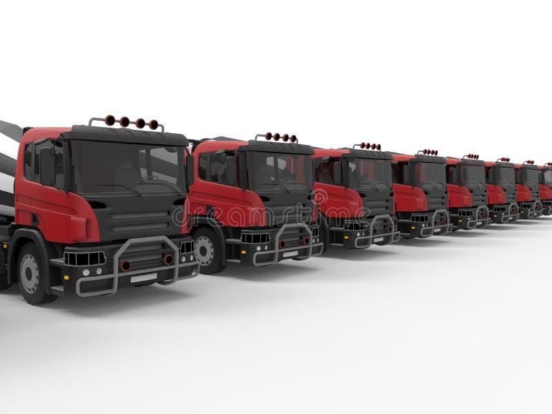 Flota de camión del mezclador de cemento libre illustration