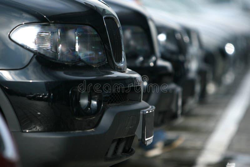 Flota de coches imagen de archivo libre de regalías