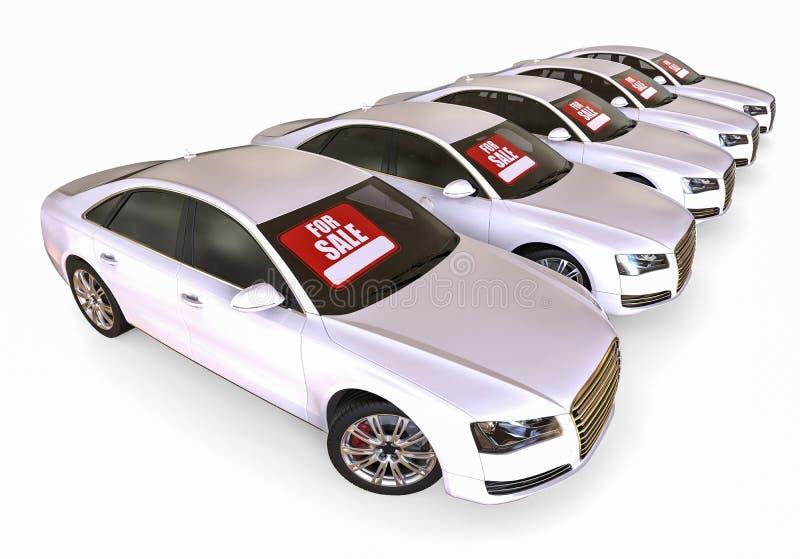 Flota de coches de la venta stock de ilustración