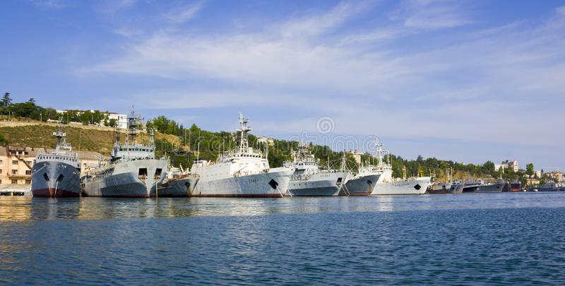 Flota del Mar Negro del ruso fotografía de archivo libre de regalías