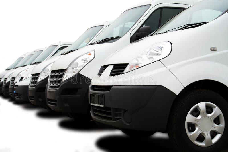 Flota samochody dostawczy zdjęcie stock