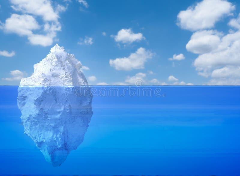 Flotación del iceberg ilustración del vector