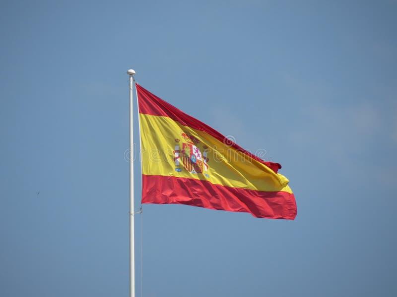 Flotación española de la bandera imagenes de archivo