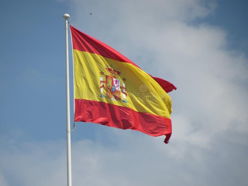 Flotación española de la bandera fotos de archivo
