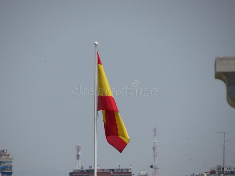 Flotación española de la bandera fotografía de archivo libre de regalías