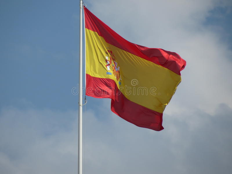 Flotación española de la bandera foto de archivo libre de regalías