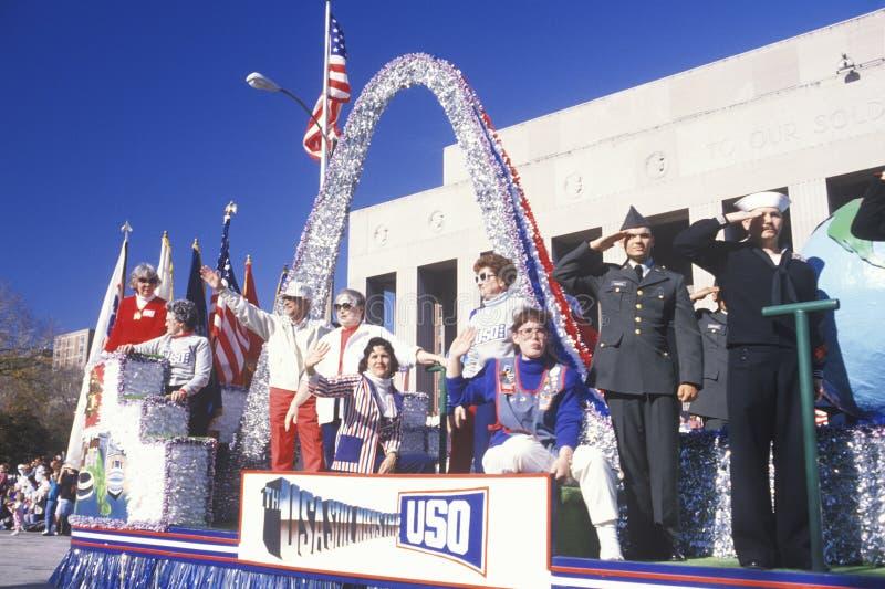 Flotador de BSG en el desfile del día de veterano fotos de archivo