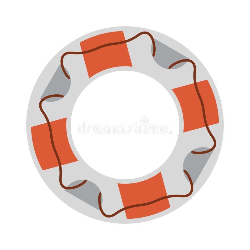 Flotador de la salvación de la playa stock de ilustración