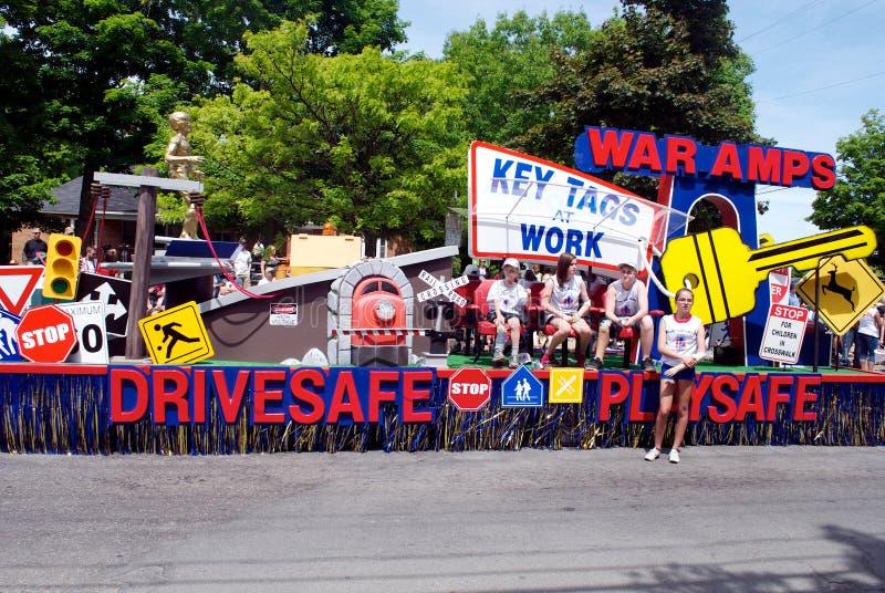 Flotador de los amperios de la guerra foto de archivo libre de regalías