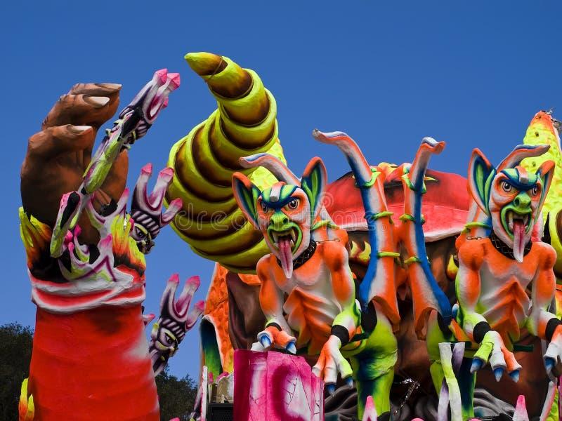 Flotador del carnaval foto de archivo