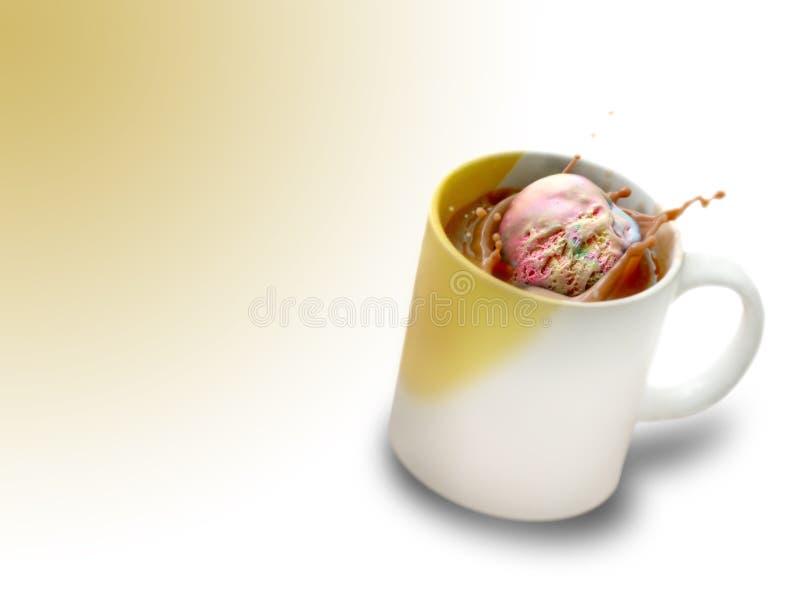 Flotador del helado foto de archivo libre de regalías