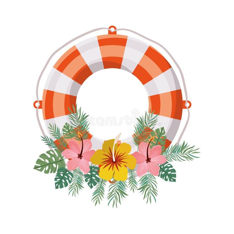 Flotador salvavidas en el fondo blanco ilustración del vector