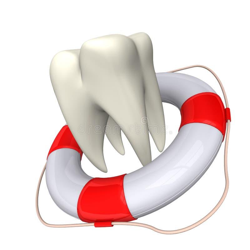 Flotador y diente libre illustration