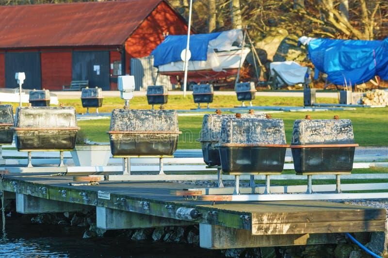 Flotadores al revés fotos de archivo