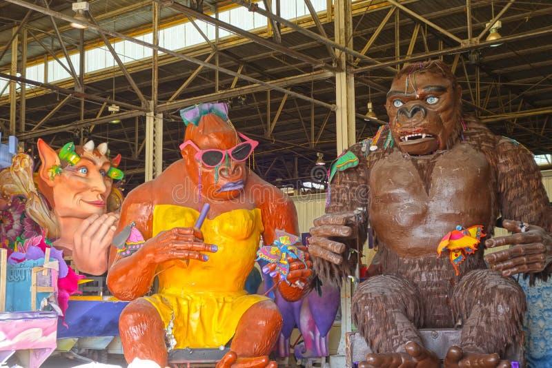 Flotadores de Kong Mardi Gras foto de archivo