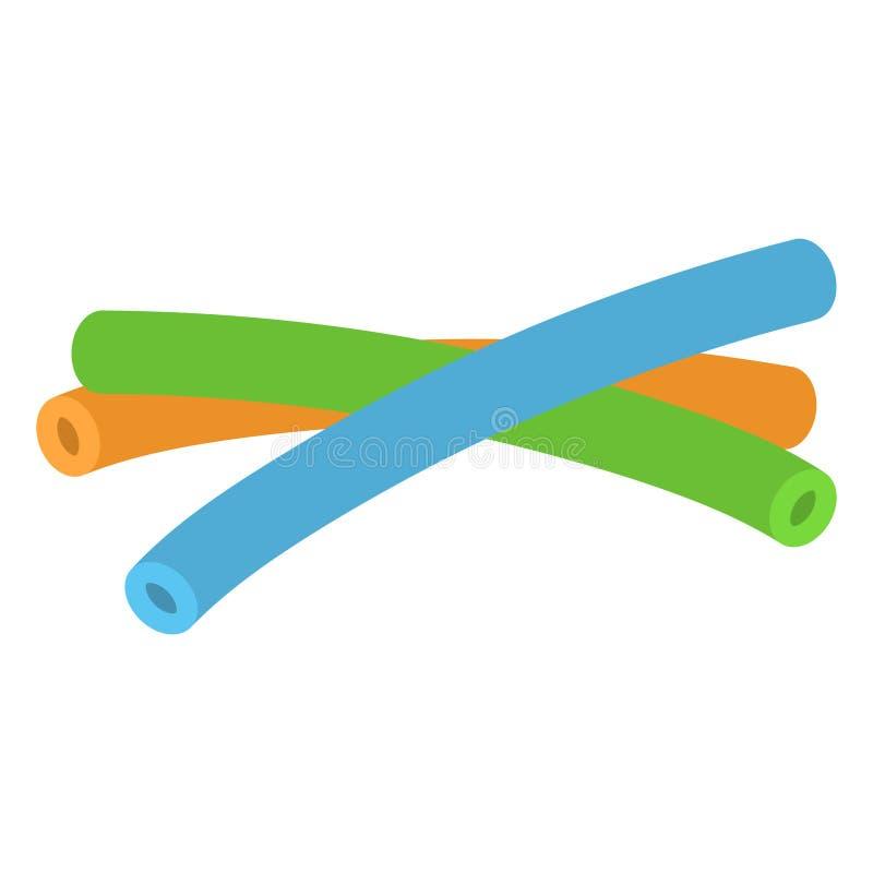Flotadores de los tallarines de la piscina stock de ilustración