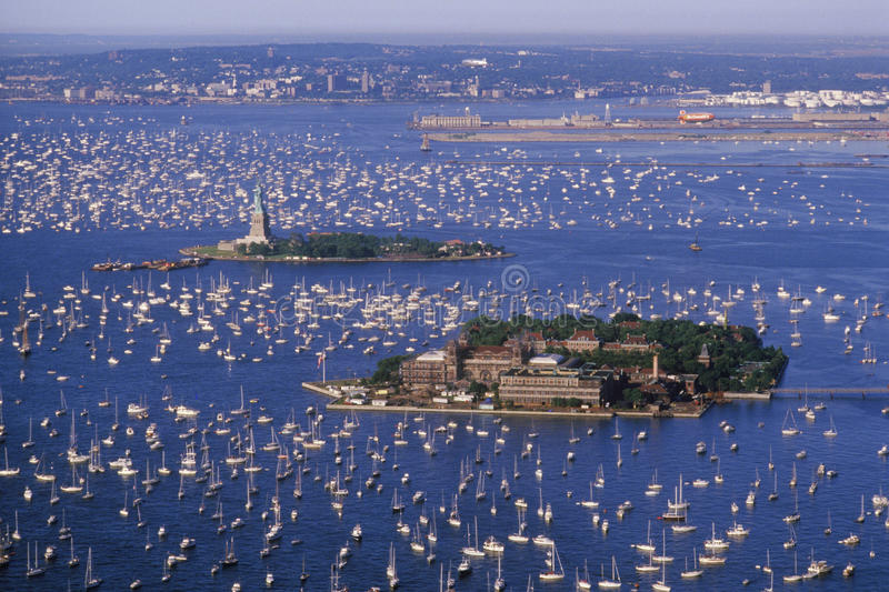 Download Flotilla In New York Harbor Stock Image - Image: 26893741