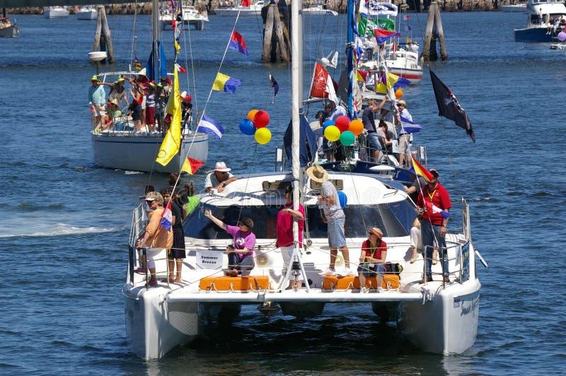 Flotille pour des gosses images libres de droits