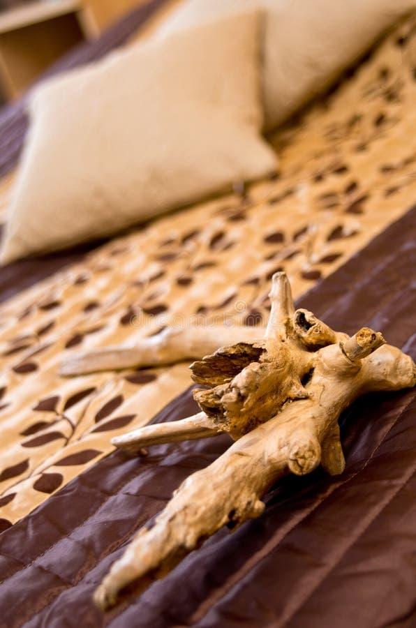 Download Flotsam decoration on bed stock image. Image of bedding - 31670597