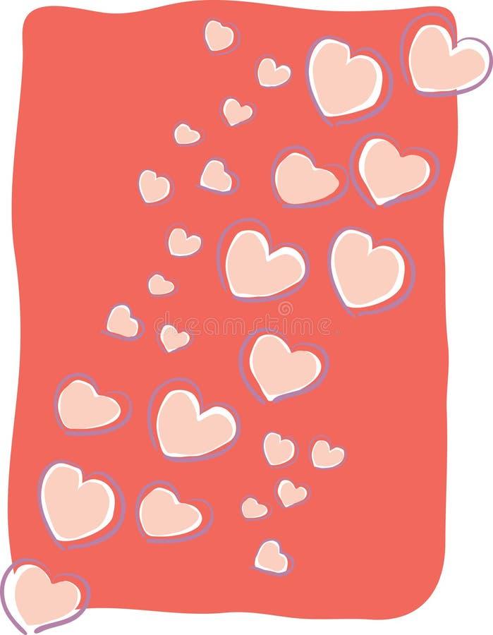 flottörhus hjärtaförälskelse royaltyfri illustrationer