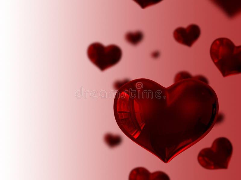flottörhus hjärtor stock illustrationer