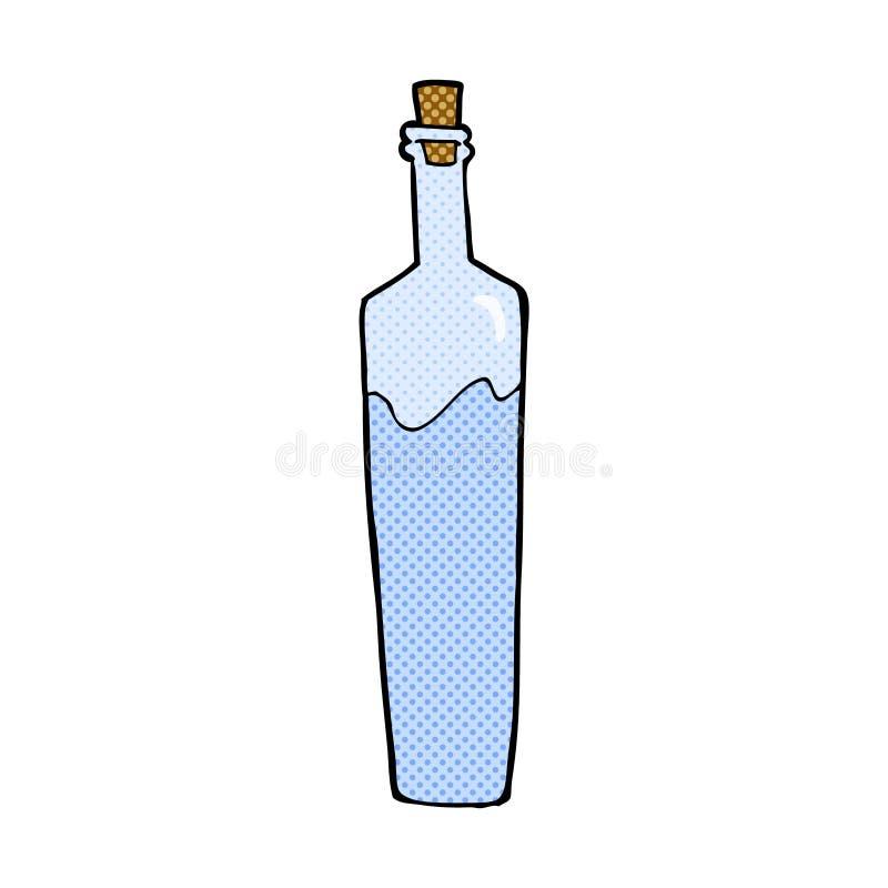 flott flaska för komisk tecknad film vektor illustrationer