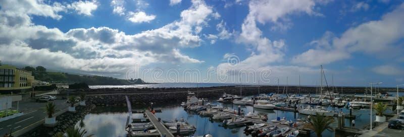 Flotta av Vila Franca do Campo på Sao Miguel Island, Azores royaltyfri bild