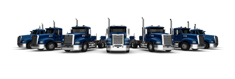 Flotta di camion illustrazione di stock