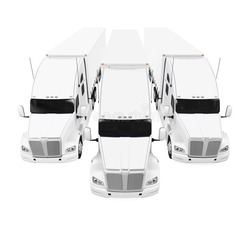 Flotta di camion royalty illustrazione gratis