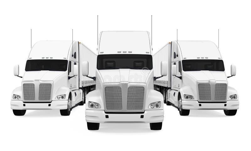 Flotta di camion isolata illustrazione vettoriale