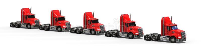 Flotte de camion américaine illustration stock