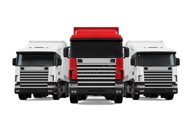 Flotte de camion de remorque illustration stock