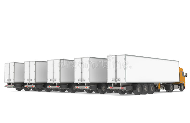 Flotte de camions. illustration stock