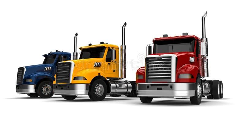 Flotte de camions américaine illustration de vecteur